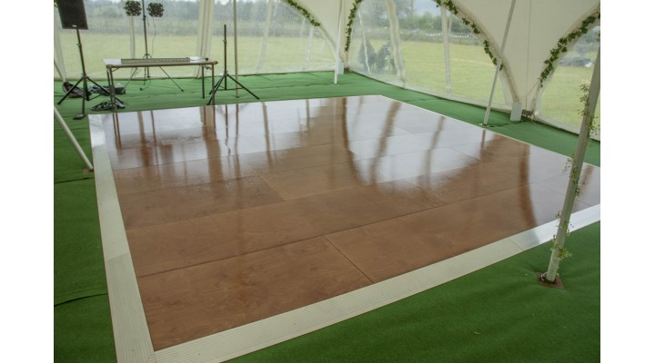 24' x 26' Stained and Sealed Birch Marquee Boarded Floor Seconds