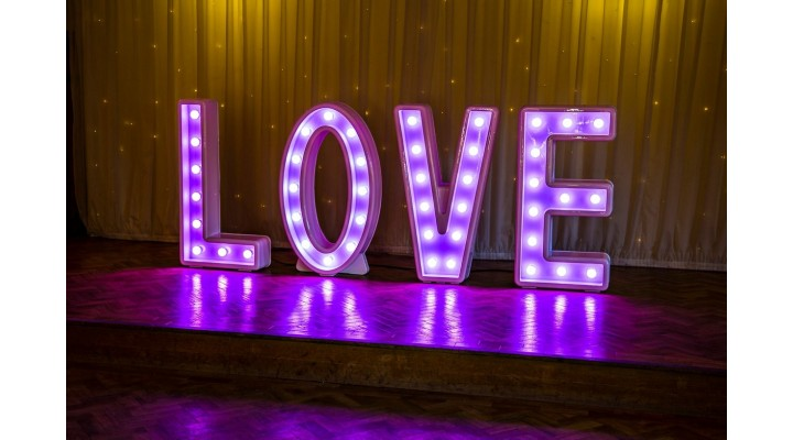 4ft LED Love Letters Set