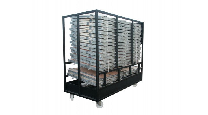 ISOS Wood Effect Floor Trolley