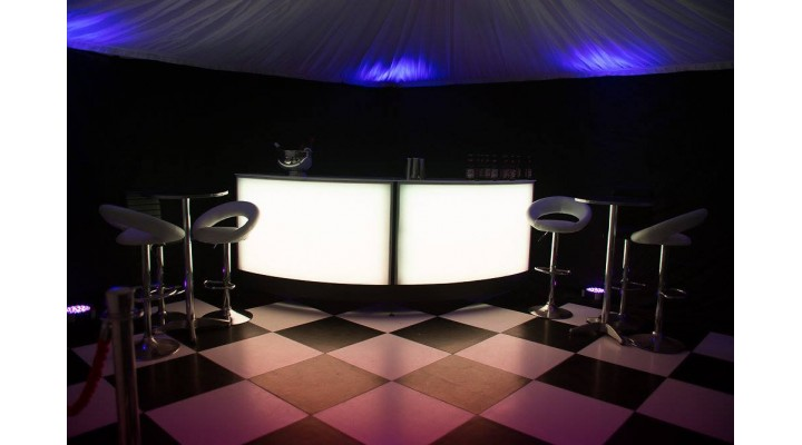 Back-Lit Sectional Bar