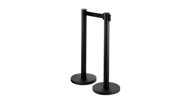 Retractable Belt Barrier Post - Pair