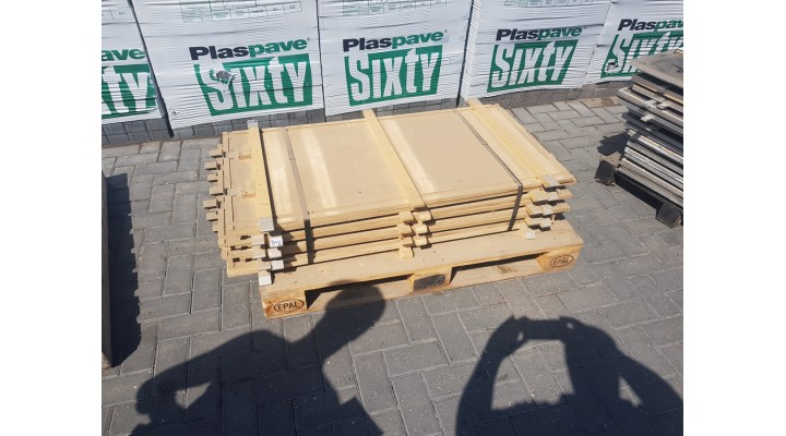 Used 4ft x 2ft Sealed Birch Marquee Flooring Panels x8
