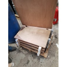 Used 2ft x 2ft Malaysian Marquee Flooring Panels x8